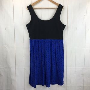 Torrid Black/Blue Sleeveless Dress Size 1